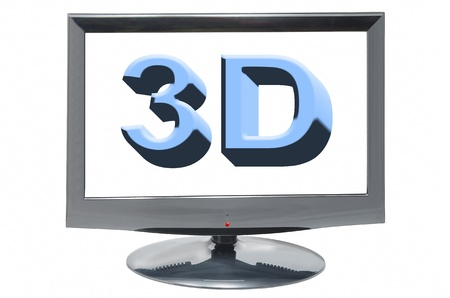 3D display on a white background Stock Photo - 16103073