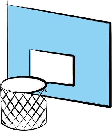 Basketball hoop illustration on a white background