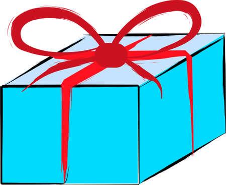 Gift box for anniversary illustration over white