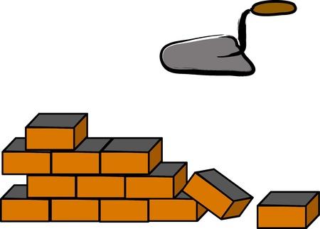 white brick wall royalty free cliparts vectors and stock rh 123rf com Old Brick Walls Cartoon Brick Wall