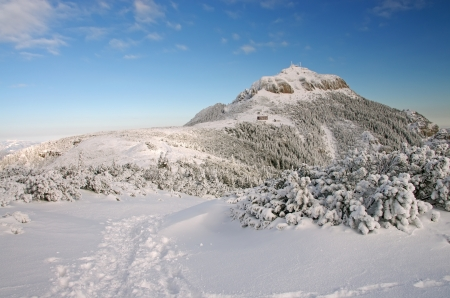 Mountain top in winter, Ceahlau mountains in Romania Stock Photo - 17842327
