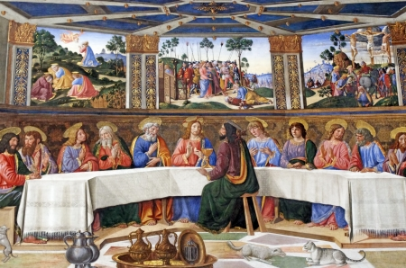 eucharistie: La Cène dans la chapelle Sixtine, Vatican