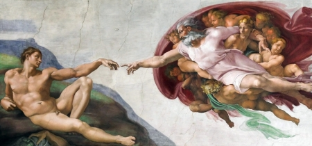 adam: Michelangelo masterpiece