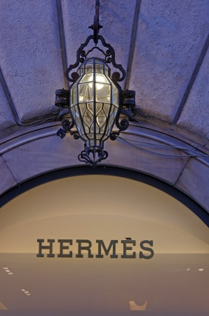 ROME, ITALY - MARCH 08  Hermes fashion store on Via del Condotti in Rome on March 08, 2011 in Rome, Italy