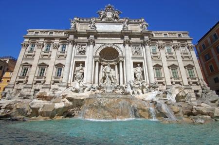 fontana: Trevi fountain in Rome (Fontana di Trevi) Stock Photo