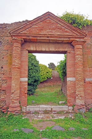 Entrance ruins at Ostia Antica, near Rome Stock Photo - 20193799