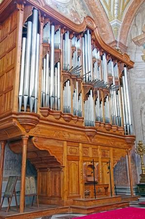 martiri: Organ in a christian church  Santa Maria degli Angeli e dei Martiri in Rome, Italy