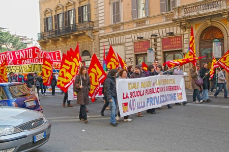 public sector: ROME, ITALY - MARCH 11  General strike in the transport sector on March 11, 2011 in Rome, Italy