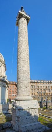 obelisk stone: Traian column  Colonna Traiana  in Rome, Italy
