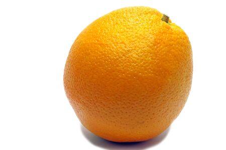 Single orange isolated on a white background Stock Photo - 22001859