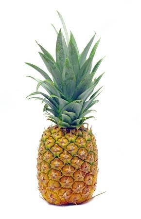 Fresh pineapple fruit over white Stock Photo - 22001866