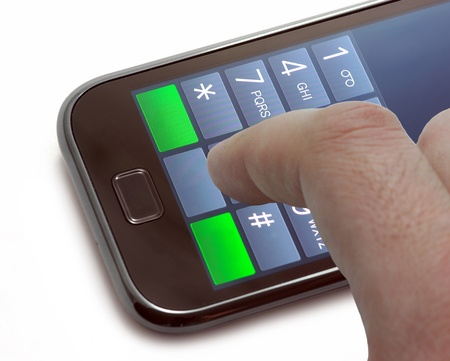touch screen phone: Dialing a number on a touch screen phone