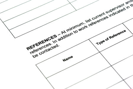 Completing application form  work references  photo