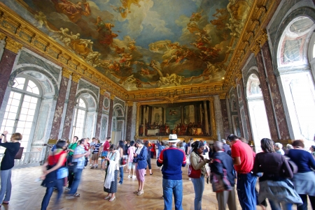 VERSAILLES, FRANCE - AUGUST 2  Tourists visiting Mirror