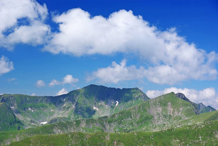 fagaras: Crest of Fagaras mountain, summer landscape