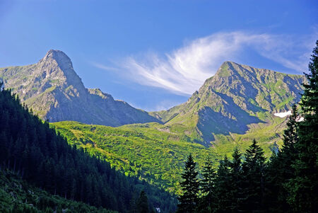 fagaras: Beautiful morning in Fagaras mountains, Romanian Carpathians