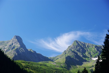 fagaras: Fagaras mountains summer landscape in Romania Stock Photo