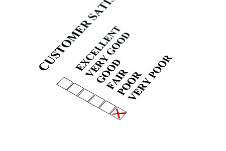 chose: Customer satisfaction  customer chose is very poor  Stock Photo