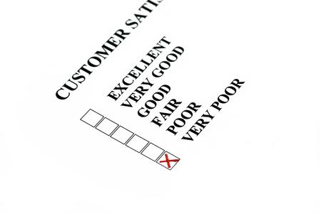 chose: La soddisfazione del cliente cliente ha scelto � molto scarsa