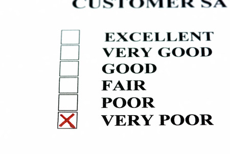 Negative comment on customer satisfaction form  very poor  photo