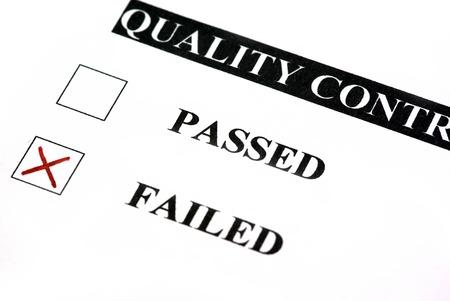 control de calidad: Formulario de control de calidad. Error est� marcada.