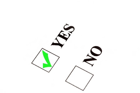 Vote for yes, check sign in yes box.