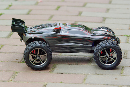 Radio controlled sport car isolated on a white background  photo