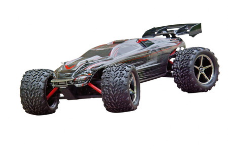 Radio controlled sport car isolated on a white background