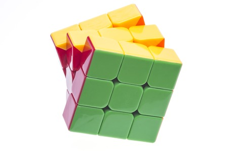 rubik: Cloase up image of a Rubik