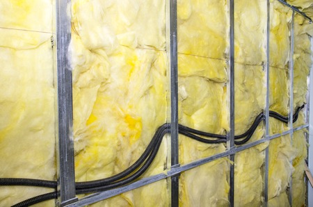 Heat isolation wall project with mineral wool