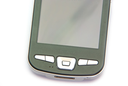 pocket pc: Pocket PC device isolated on a white background. Stock Photo
