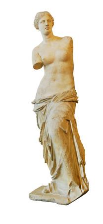 Venus of Milo statue isolated on white. Stock Photo