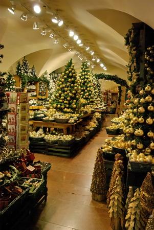 Christmas decoration shop in Salzburg.