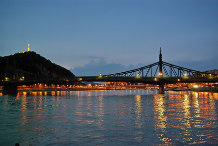 Gellert Hill and Danube river in Budapest photo