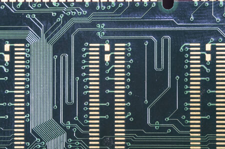 Close up image of a electronic circuit plate. photo
