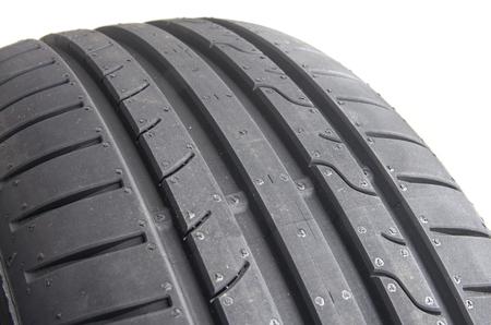 summer tire: Sport summer tire, over white Stock Photo