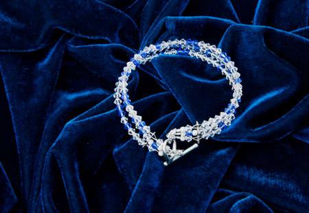 blue velvet: Luxury necklace on blue velvet