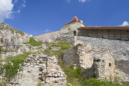 Medieval citadel of Rasnov was built between 1211 and 1225 during Teutonic Knights. Stock Photo