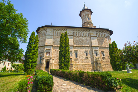 Dragomirna Monastery church is the tallest medieval monastery from Bucovina (northern Moldavia), Unesco heritage site.