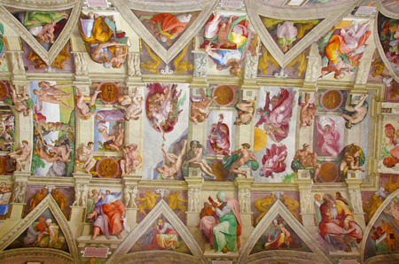 ROME, ITALY - MARCH 08: Sistine chapel ceiling on March 08, 2011 in Rome, Italy