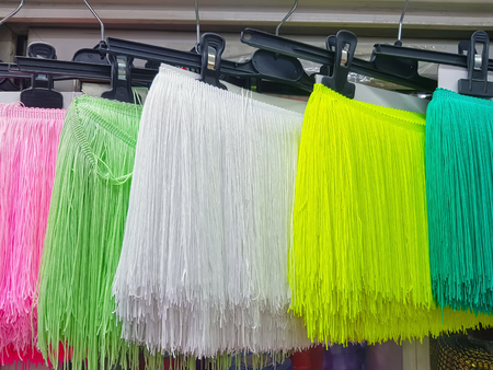 Colorful wired summer dress for sale in the market 免版税图像