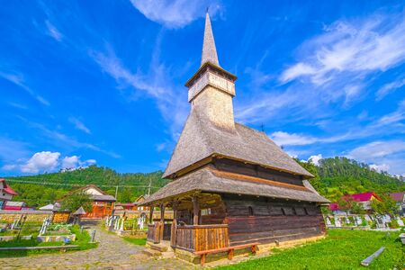 The church of the Holy Archangels in Rozavlea (Maramures, Romania) was built of fir wood, in 1717, over an older church ruined by the Tartars.