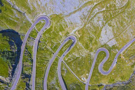 Stunning road in mountains, summer scene, Transfagarasan road in Romania