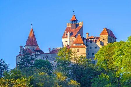 Medieval Castle of Bran, known for Dracula story, one of important landmarks in Romania. Stock Photo