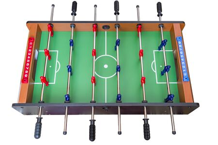 Football game table isolated over white background