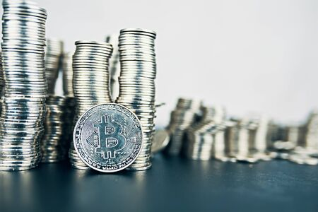 Fall of cryptocurrency. Large amount of bitcoin. Is it worth investing in crypto.