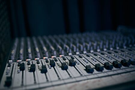 Sound remote. Mixing console for sound producer.