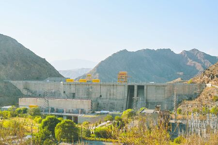 Dam in the mountains. Alternative ways to generate electricity.