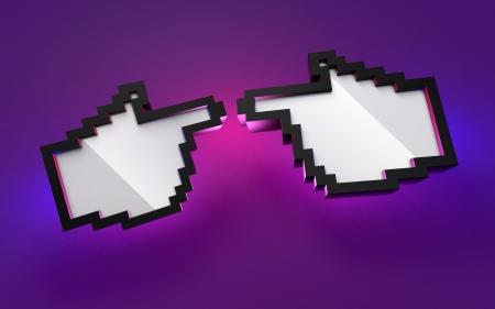 Hands pixel Stock Photo - 17083322