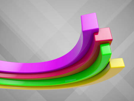 Growing color graph on a gray background Stock Photo - 17123193